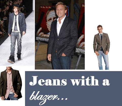 ceket ile kot pantolon