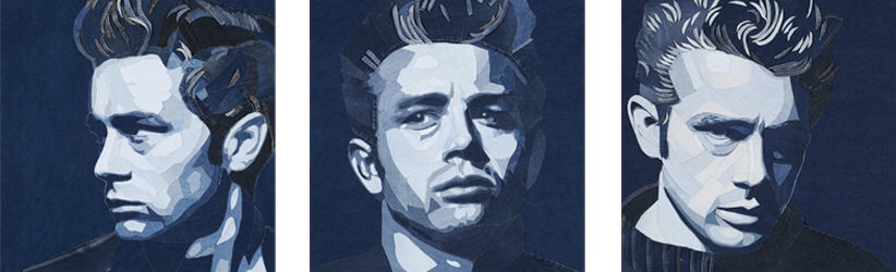 james dean denim portre